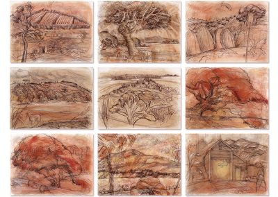 Fresh - Waiheke landscape drawings